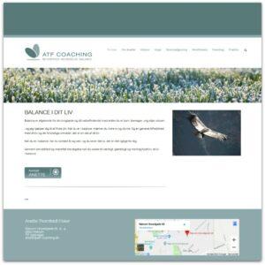 ATF Coaching v/ Anette Fisker - webdesign af Camille Viktoria