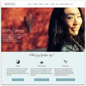 Ditte Young dansk website · Webdesign af Camille Viktoria