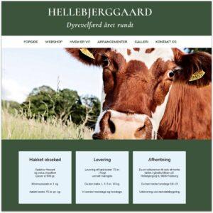 Hellebjerggaard · Webdesign af Camille Viktoria · Pure Creative Content