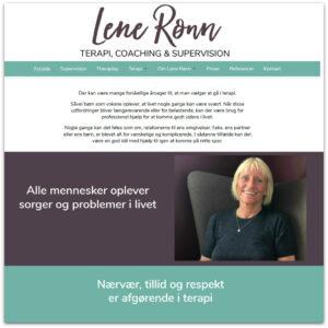 Psykoterapeut Lene Rønn · Webdesign af Camille Viktoria