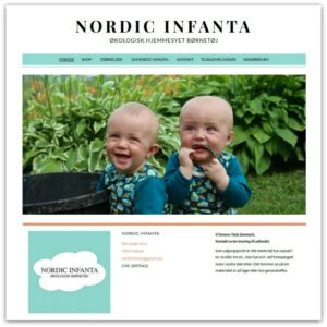 Økologisk hjemmesyet børnetøj GOTS certificeret - hjemmeside skabt af Camille Viktoria