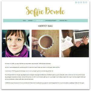 Soffie Bonde Design - webdesign af Camille Viktoria