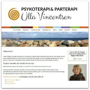 Ulla Vincentsen - webdesign af Camille Viktoria