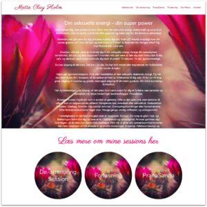 Mette Clay Holm · Webdesign af Camille Viktoria